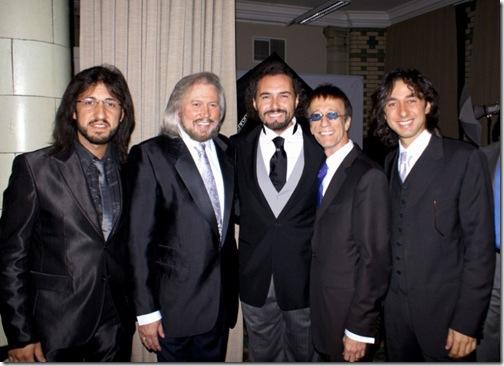 I fratelli Egiziano con i fratelli Gibb